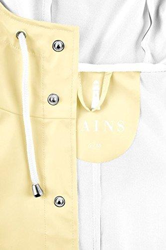RAINS Herren Regenmantel Jacket Gelb - Yellow (Wax Yellow)