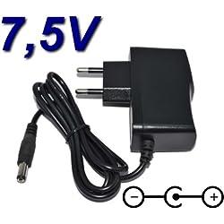 TOP CHARGEUR * Adaptador Alimentación Cargador Corriente 7.5V Reemplazo Recambio PC Tablet Vtech 155505 Genius XL