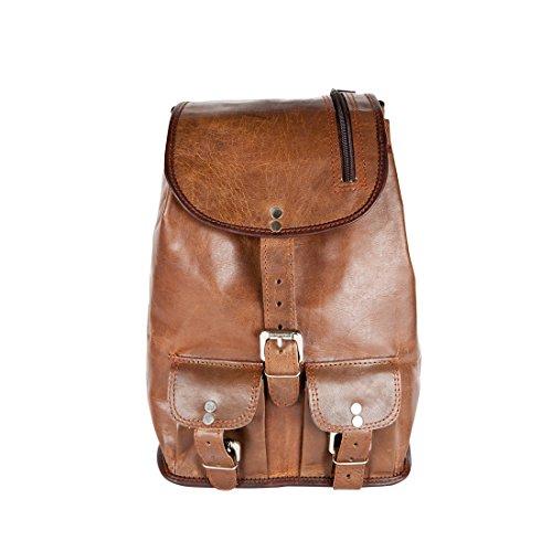 nal Vintage Leder Rucksack Daypack City Shopping Bag Campus (Party City Anwendungen)