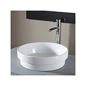 Vasque semi encastrée ronde blanche