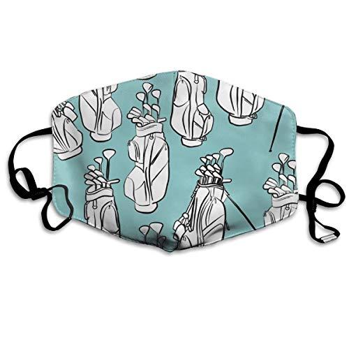 Golf Bags On Light Blue Mask Mouth Mask Neck Gaiter Mask Bandana Balaclava Easter St. Patrick's Day - Vampir-golf