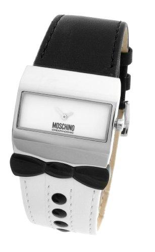 Moschino - MW0056 - Montre Femme - Quartz Analogique - Cadran Argent - Bracelet Cuir Argent