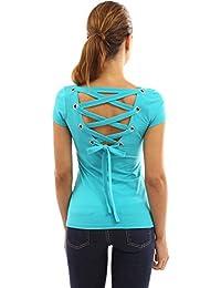 51bac3a38e Amazon.es  Turquesa - Blusas y camisas   Camisetas