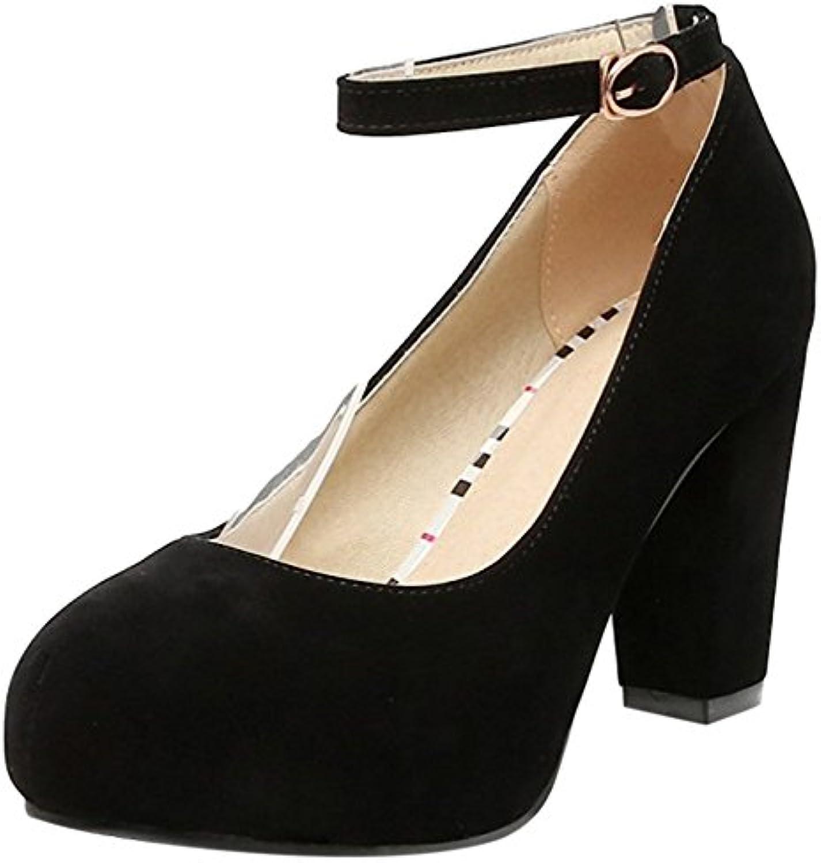 VulusValas Mujer Tacon Ancho Zapatos - Zapatos de moda en línea Obtenga el mejor descuento de venta caliente-Descuento más grande