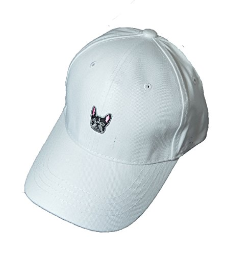 KGM Accessories Cool New French Bull Dog Logo Casquette de Baseball Blanc