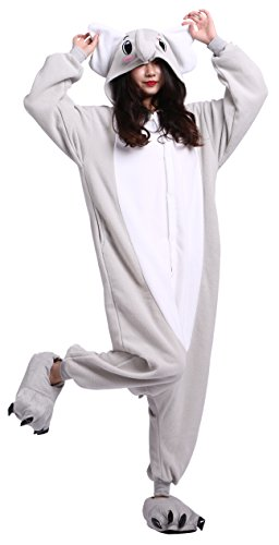 SAMGU Unisex Erwachsene Onesie Pyjama Elefant Tier Cosplay Halloween Kostüme Animal L