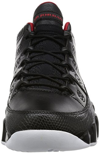 Nike Air Jordan 9 Retro Low, espadrilles de basket-ball homme Noir (Black / Gym Rouge-Blanc)