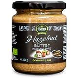 Planet Plant-Based Haselnussmus 2er Pack - Bio Haselnussbutter Aus 100% Gerösteten Bio-Haselnüssen, Ohne Zusatzstoffe, Vegan, Glutenfrei, Ohne Zusatz Von Zucker - Natürliche Nussbutter (2 x 250 g)