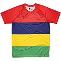 Camiseta Banderas Niño, Niña, Manga Corta, Running, Gimnasio #LesQuatreBands Talla 12