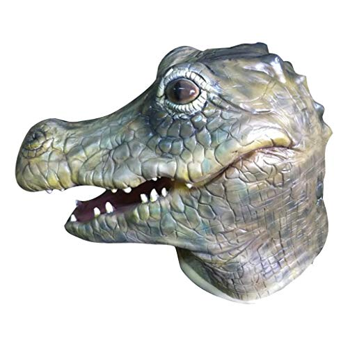 Krokodil Kopf Kostüm - Halloween Horror Tier Maske gruselig Vollkopf
