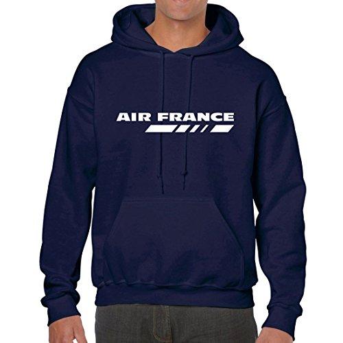 air-france-hoodie-sweat-pullover-m-navy
