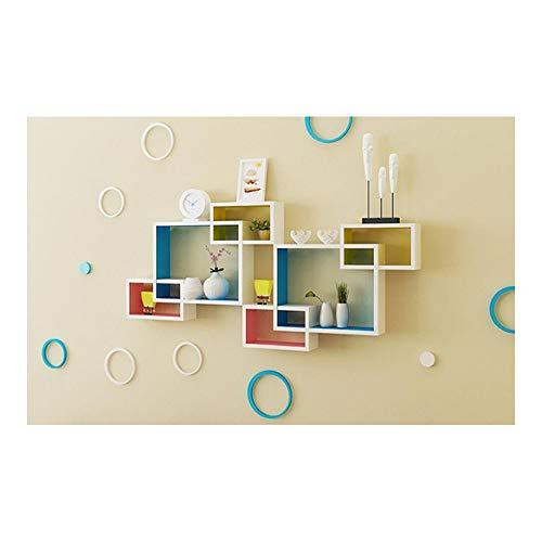 Rack, Wall Art Pantalla Pared Rack Grid TV Soporte