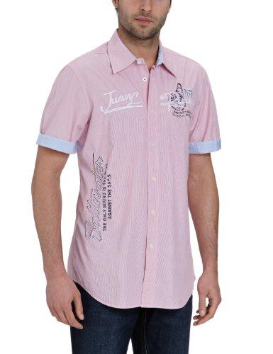 LERROS Herren Freizeithemd 2262241 Rosa (washed pink 858)