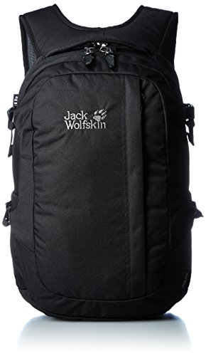 Jack Pot (Jack Wolfskin Rucksack Jack Pot, Black, 48 x 35 x 8 cm, 26 Liter, 2005241-6000)