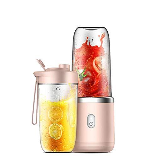 Ncbh batteria portatile al litio ricaricabile senza fili leggera ricaricabile 1500mah batteria al litio 400 ml 6 lame per frullato di frutta alimenti per bambini rosa
