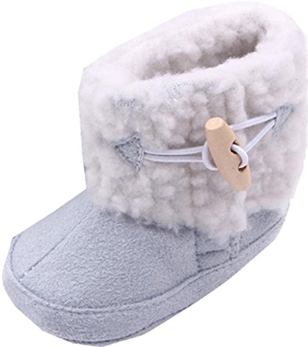 Chaussures de bébé,Transer ® Enfant Bébés Garçons Filles Bottes d'hiver antidérapantes Couvre-chaussures souples Bottes chaudes Bottes en coton blue
