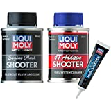 Liqui Moly Combo of 4T Shooter (80 Ml), Flush Shooter (80 Ml) and Mos2 Additive Shooter (20 Ml) for Motorbikes