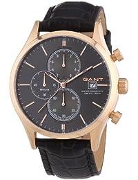 Gant  Vermont - Reloj de cuarzo para hombre, con correa de cuero, color marrón