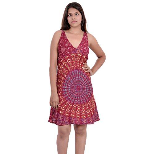 Indi Bargain Rayon Women's midi/short evening/beachwear Dress - (IBLS002M)