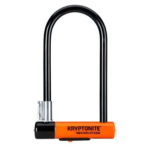 Kryptonite 2130 Evolution Standard Fahrradschloss, Orange, 10 x 22,5 cm, Schwarz/ orange