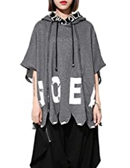 ELLAZHU Femme Automne Cropped Manche Zip Embellished Lettre Tricot Hoodie GY1049
