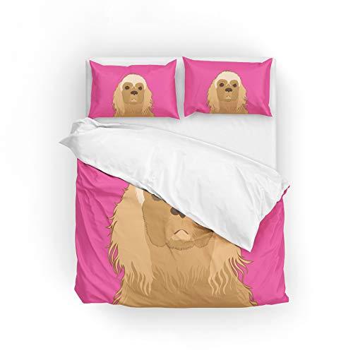 MyDaily American Cocker Spaniel Hunde-Bettwäsche-Set, Mikrofaser, Polyester,