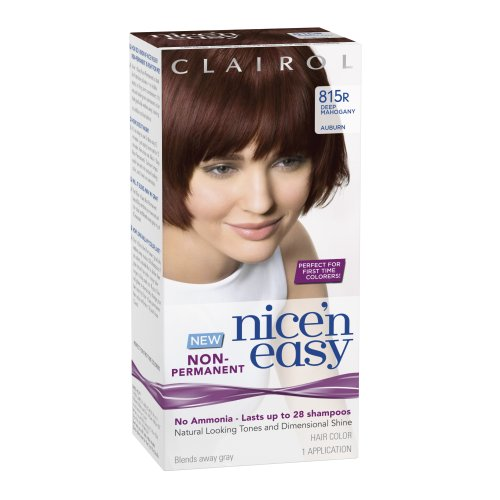clairol nice n easy non permanent hair color 815r deep mahogany auburn 1 kit - Mousse Colorante Non Permanente
