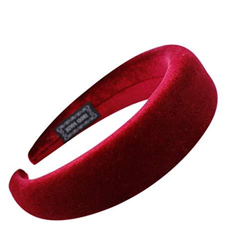 Sportliche Wildleder-kappe (AIFGR Stirnbänder Damen Samt Sport Haarband Volltonfarbe Damen Haar Kopfband Einfache SüßE MäDchen Stirnband)
