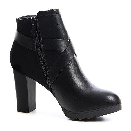 topschuhe24, Stivali donna Nero (nero)