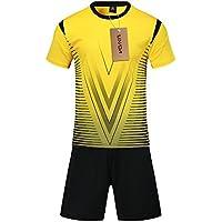 d49e3a53d Lixada Set de Camisetas de fútbol Profesional para Adultos Niños Set de  fútbol Respirable Set