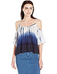 French Connection Damen Bluse Holiday Wave Cut Out Shldr Top