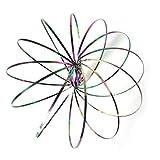 Anillo de Flujo cinético Juguete 3D del Resorte Spinner Anillo Brazo Mágico Slinky Rollo Anillo Multi sensorial Interactivo Pulsera Primavera