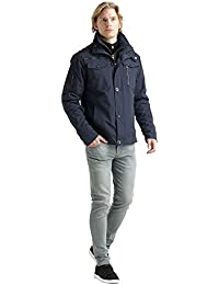 Crosshatch Mens Branded Double Layered Winter Jacket Available in 3 Colours