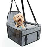 Zellar Pet Car Booster Seat for Small Dogs Cats, Breathable Waterproof Dog Cat Booster Seat Cover Protector Pet Travel Carrier Bag with Safety Leash for Small Dogs Cats Puppies Travelling