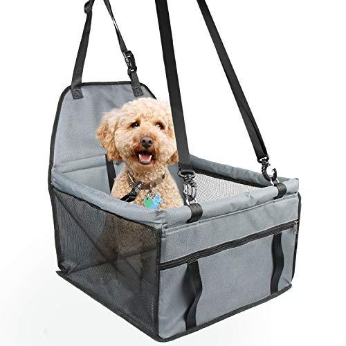 Zellar seggiolino auto per cani da compagnia, seggiolino auto traspirante protettivo zanzariere borsa da viaggio con guinzaglio di sicurezza per cani di piccola taglia cuccioli di gatto