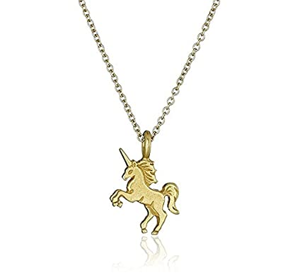 Gluckliy Women Girls Unicorn Pendant Alloy Chain Necklace Jewelry Accessories Gift