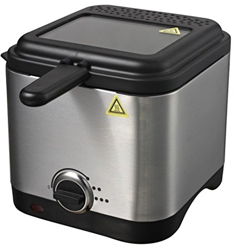 Friteuse 1,5 L Inox Zone froide Friteuse 900 W Fritöse jusqu'à 190 °C