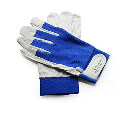 Schweißhandschuhe, Hitze- und feuerfeste Handschuhe, Ziegenleder, ideal für Kamin, Herd, Ofen,...