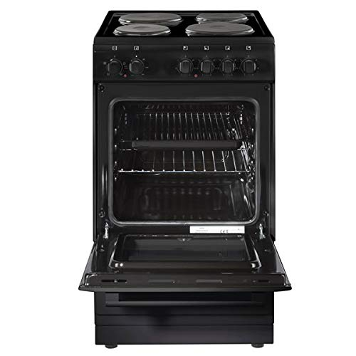 41MbhlDMJUL. SS500  - Newworld NW50ES Freestanding A Rated Electric Cooker in Black