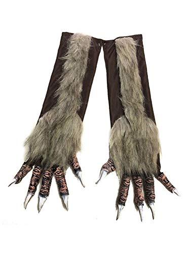 Männer Werwolf Kostüm - Sue-Supply Halloween Werwolf Handschuhe Pelzigen Monster Werwolf Hände Handschuhe Halloween Prop Cosplay Kostüm Handschuhe Geschenk