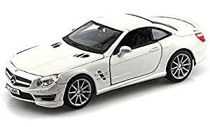 Bburago- Mercedes Benz SL 65 Coche de Juguete, Color Blanco (18-21066W)