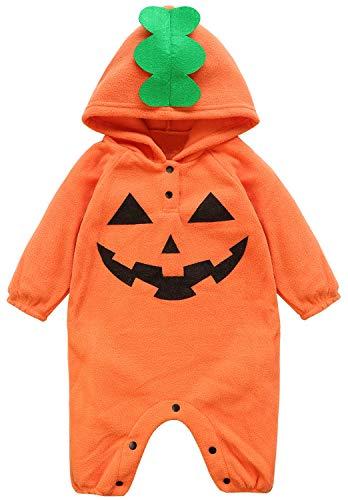 (Fancyinn Säugling Kleinkinder Baby Jungen Mädchen Overall Spielanzug Cosplay Pyjama Kürbis Halloween Kostüme 70)