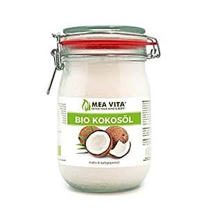 Raw Cocco Vergine Biologico MeaVita 1 Litre (1 X 1000 ml)