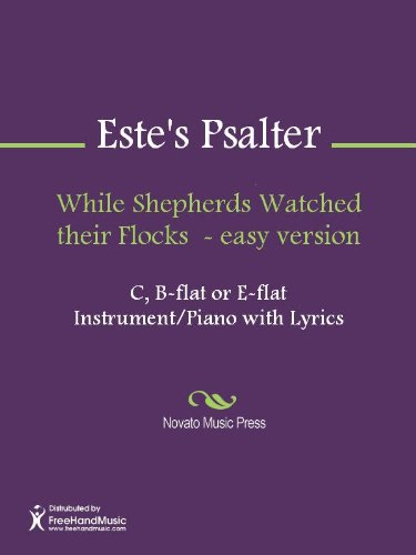 While Shepherds Watched their Flocks  - easy version - B-flat Instrument