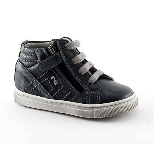 BLACK GARDENS JUNIOR 24000 Blue-Baby-Schuhe Mitte Reißverschluss Sneaker Schnürsenkel Blu