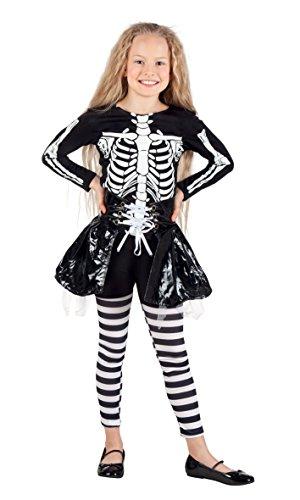 Boland 78077 - Kinderkostüm Skelett Mädchen, Gröߟe 158, (Für Mädchen Französisch Kostüme)
