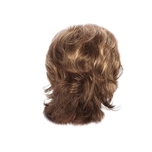 Sexy Kurze Lockige Frisuren (kashyk Kurzes Haar für Frauen Sexy wellige lockige synthetische Mode Perücke,leicht Gewellt Kurz für Karneval Cosplay Halloween für Tägliche Party)