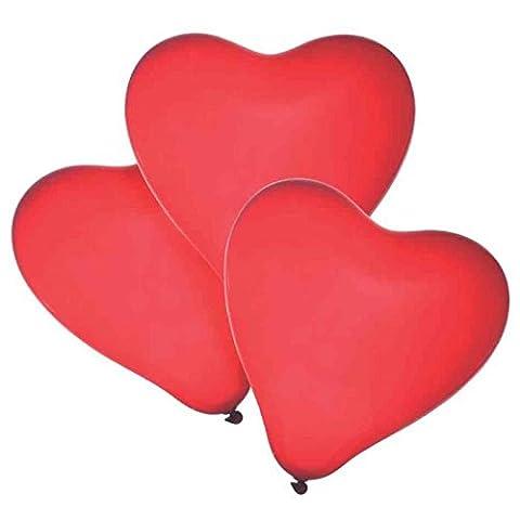 Lot de 10 Ballons COEUR - 26cm - Mariage Anniversaire - 100% Latex
