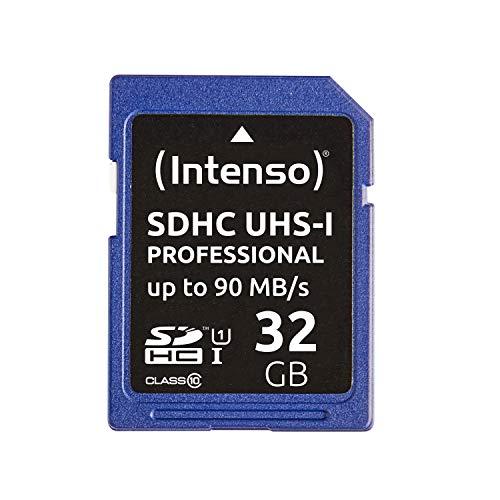 Intenso Professional SDHC UHS-I Class 10 32GB Speicherkarte (bis 90Mbps) schwarz