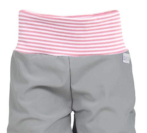 Lila Niño Softshell–Pantalón para bebé niños Pantalón Otoño Invierno forrado Lluvia Pantalones Monótono gris rayas rosa Talla 50/56–134/140–Fabricado en Alemania. 3